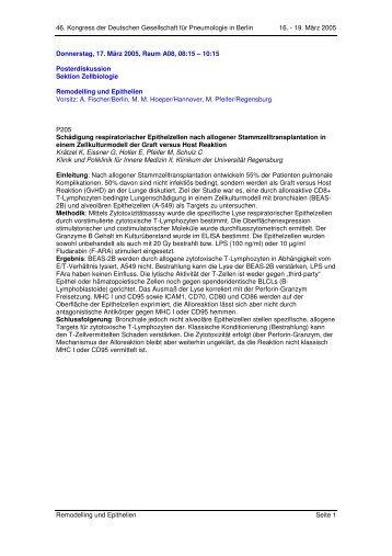 46. Kongress der Deutschen Gesellschaft für Pneumologie in Berlin ...