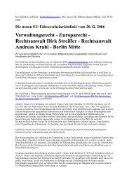Sie befinden sich hier : Fahrerlaubnisrecht » Die ... - Eu-projekte.com