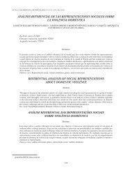 Análisis referencial de las representaciones sociales sobre la ...