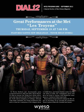 """Great Performances at the Met """"Les Troyens"""" Thursday ... - WYES"""