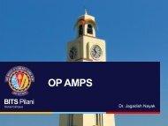 OP AMPS - BITS Pilani