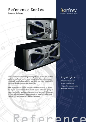 Reference Subwoofer Enclosures (English EU) - Infinity