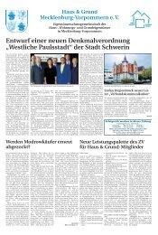 """Entwurf einer neuen Denkmalverordnung """"Westliche Paulsstadt"""" der ..."""