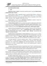 Sažetak za javni uvid - Procjena utjecaja na okoliš