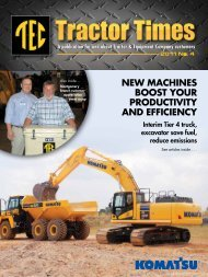 new machines boost your productivity and efficiency - TEC Tractor ...