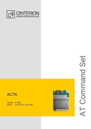 AC75i AT Command Set