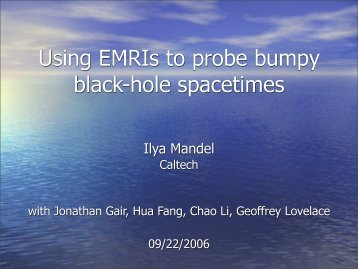 Topics in Gravitational Wave Physics - chgk.info