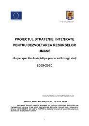 Proiectul strategiei integrate pentru dezvoltarea resurselor ... - IREA