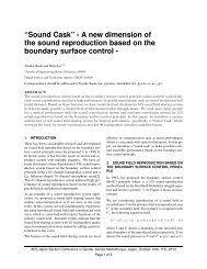 """""""Sound Cask"""" - A new dimension of the sound reproduction based ..."""