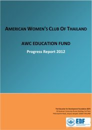 read the progress report - American Women's Club of Thailand