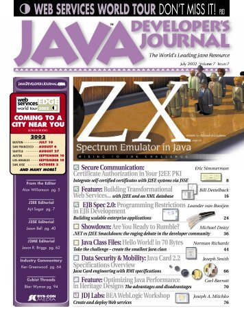 web services world tour don't miss it! p.83 - SYS-CON Media