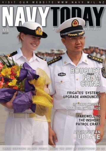 CHINA BOUQUET FROM - Royal New Zealand Navy