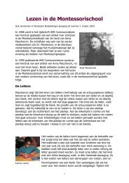 Lezen in de Montessorischool - kelpin.nl