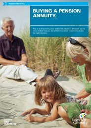 BUYING A PENSION ANNUITY. - Legal & General