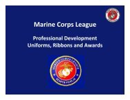 Marine Corps League - Pamcleague.org