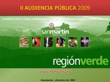 AUDIENCIA PÚBLICA 2009 - I - Gobierno Regional de San Martín
