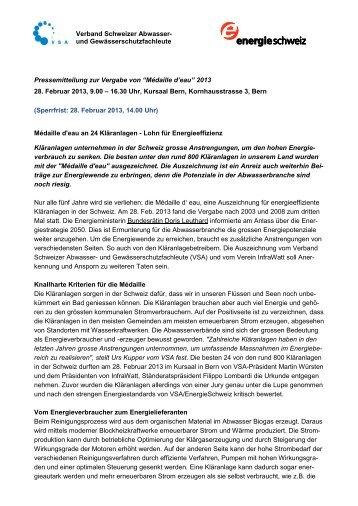 Verband Schweizer Abwasser- und ... - Infrawatt