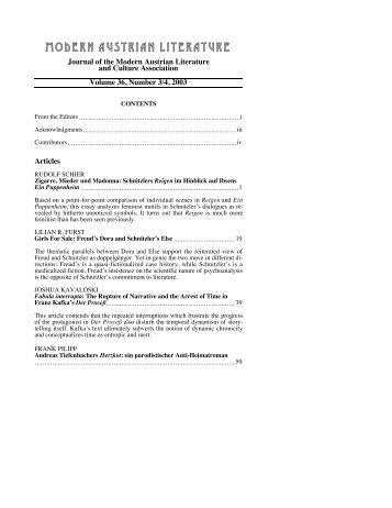 modernaustrianliterat ure - Austrian Studies Association