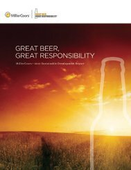 great beer, great responsibility - MillerCoors