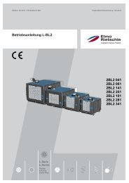 Betriebsanleitung L-BL2 2BL2 041 2BL2 061 2BL2 ... - Elmo Rietschle