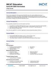 INCAT Education AutoCAD 2009 Intermediate - Tata Technologies