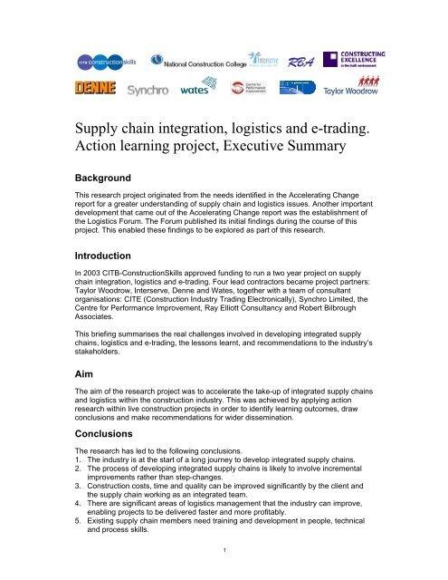 Executive Summary - Constructing Excellence