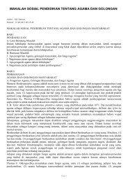 makalah sosial pendidikan tentang agama dan golongan - SKP