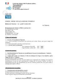 C R évacuation n°1 2011-2012 - Liste des sites Web des ...
