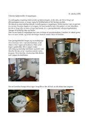 16. oktober 2008 Tekniske hjælpemidler til rengøringen. En ...