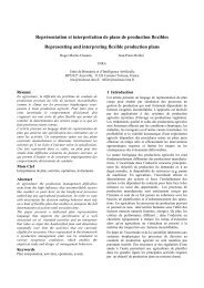 Représentation et interprétation de plans de production ... - Inra