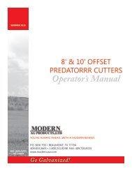 Offset Flex Predator Cutters Manual