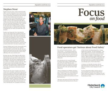 Focus on Food - Issue 19 - June 2009 - Christchurch City Council