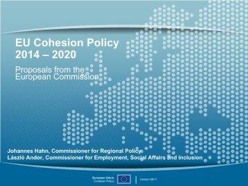 EU Cohesion Policy 2014 – 2020 - Bernd Lange
