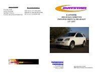 KA09100BK 2003-05 KIA SORENTO 2WD/4WD FRONT ... - Daystar