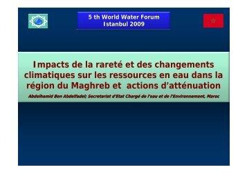 Impacts de la rareté et des changements climatiques sur les ...