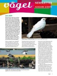 Newsletter 3/09 Juli-August - Vögel - Magazin für Vogelbeobachtung