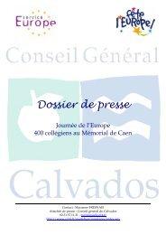 Dossier de presse Journée de l'Europe au Mémorial de Caen