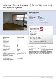 Köln-Porz | Direkte Rheinlage - 3 Zimmer-Wohnung mit 2 ... - feu48.de