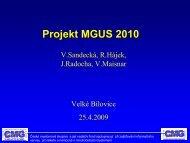 Projekt MGUS 2010 - Nadační fond Česká myelomová skupina