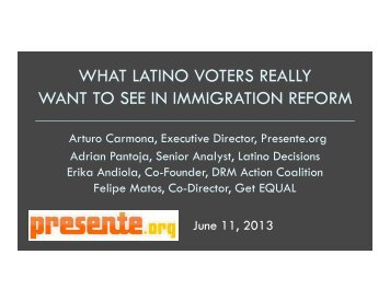 Webinar slide deck here - Latino Decisions