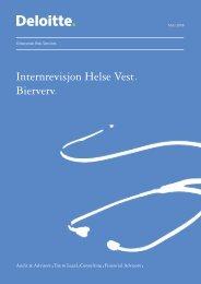 Bierverv - Samlerapport - Helse Vest