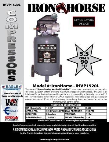 ironHorse - iHVp1520L - Air Compressors Direct