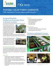 PORTABLE SOLAR POWER GENERATOR - Nextek Power Systems