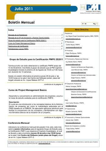 Julio 2011 - Project Management Institute