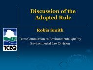 Discussion of the Adopted Rule - Texas Commission on ...