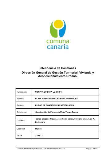 Intendencia de Canelones Dirección General de Gestión Territorial ...