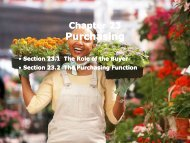 Section 23.2 The Purchasing Function - iMAG
