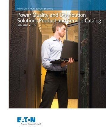 Power Quality and Distribution Solutions Product and Service Catalog