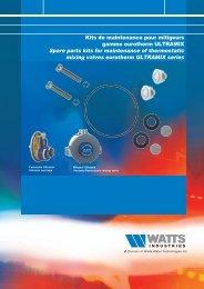 Kits de maintenance pour mitigeurs gamme ... - Watts Industries
