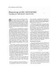 Scanning probe microscopy - LSI